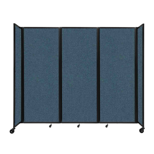 """Room Divider 360 Folding Portable Partition 8'6"""" x 7'6"""" Caribbean Fabric"""