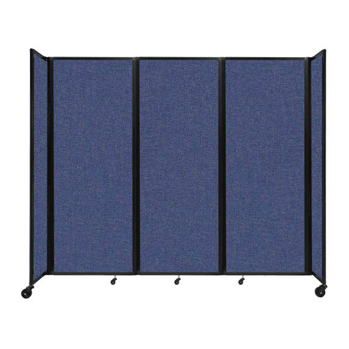"""Room Divider 360 Folding Portable Partition 8'6"""" x 7'6"""" Cerulean Fabric"""