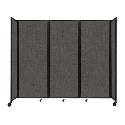 "Room Divider 360 Folding Portable Partition 8'6"" x 7'6"" Mocha Fabric"