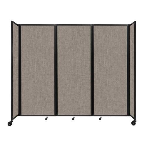 """Room Divider 360 Folding Portable Partition 8'6"""" x 7'6"""" Warm Pebble Fabric"""