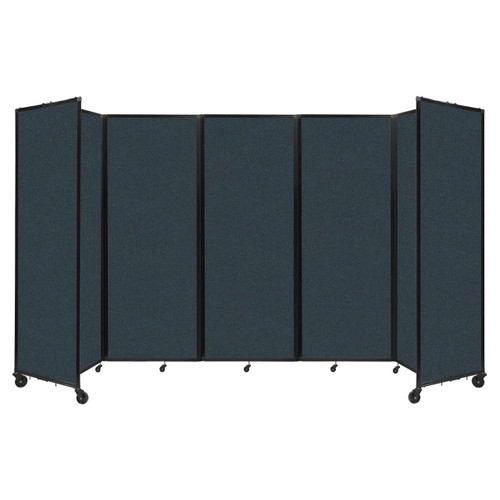 """Room Divider 360 Folding Portable Partition 14' x 7'6"""" Blue Spruce Fabric"""