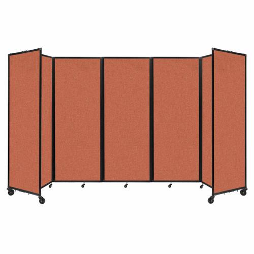 """Room Divider 360 Folding Portable Partition 14' x 7'6"""" Papaya Fabric"""