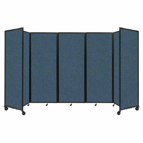 """Room Divider 360 Folding Portable Partition 14' x 7'6"""" Caribbean Fabric"""