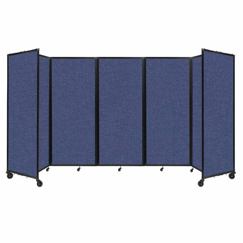 """Room Divider 360 Folding Portable Partition 14' x 7'6"""" Cerulean Fabric"""
