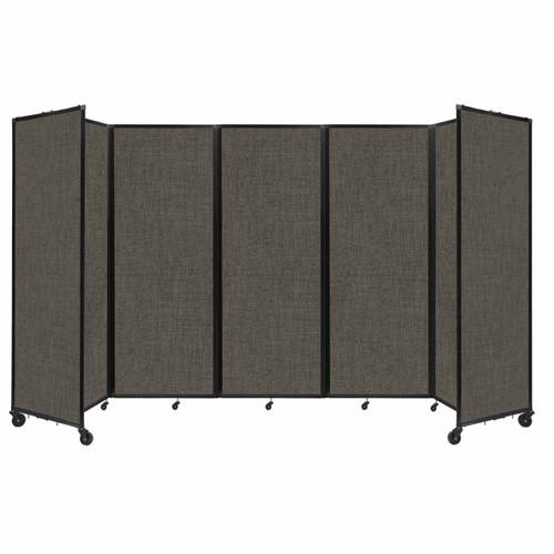 "Room Divider 360 Folding Portable Partition 14' x 7'6"" Mocha Fabric"
