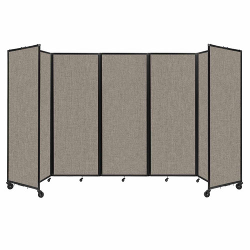 """Room Divider 360 Folding Portable Partition 14' x 7'6"""" Warm Pebble Fabric"""