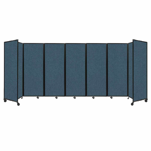 """Room Divider 360 Folding Portable Partition 19'6"""" x 7'6"""" Caribbean Fabric"""