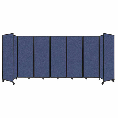 """Room Divider 360 Folding Portable Partition 19'6"""" x 7'6"""" Cerulean Fabric"""