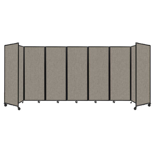 """Room Divider 360 Folding Portable Partition 19'6"""" x 7'6"""" Warm Pebble Fabric"""