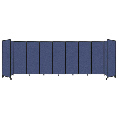 """Room Divider 360 Folding Portable Partition 25' x 7'6"""" Cerulean Fabric"""