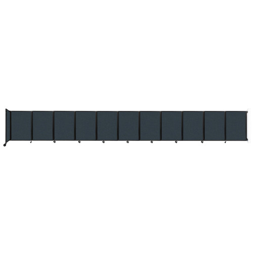 """Wall-Mounted Room Divider 360 Folding Partition 30'6"""" x 4' Blue Spruce Fabric"""