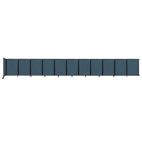 """Wall-Mounted Room Divider 360 Folding Partition 30'6"""" x 4' Caribbean Fabric"""