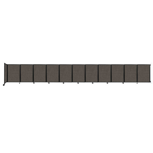 """Wall-Mounted Room Divider 360 Folding Partition 30'6"""" x 4' Mocha Fabric"""