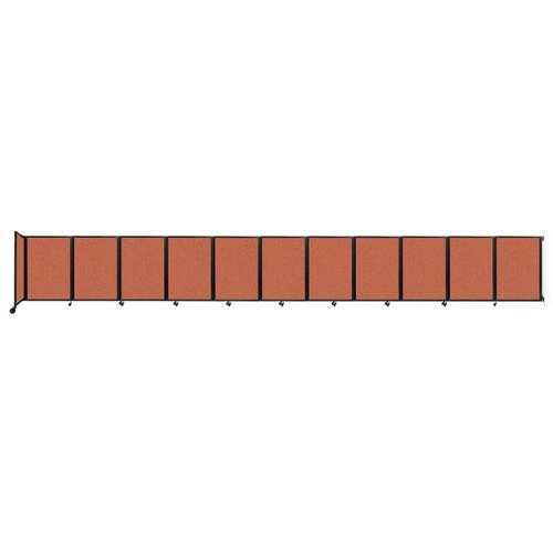 """Wall-Mounted Room Divider 360 Folding Partition 30'6"""" x 4' Papaya Fabric"""