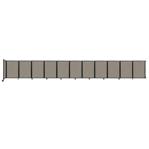 """Wall-Mounted Room Divider 360 Folding Partition 30'6"""" x 4' Warm Pebble Fabric"""