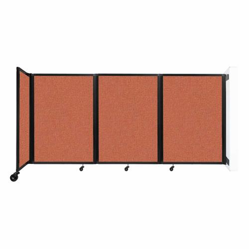 """Wall-Mounted Room Divider 360 Folding Partition 8'6"""" x 4' Papaya Fabric"""