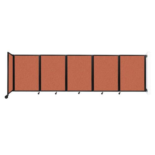 Wall-Mounted Room Divider 360 Folding Partition 14' x 4' Papaya Fabric