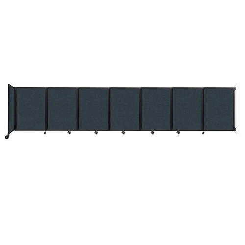 """Wall-Mounted Room Divider 360 Folding Partition 19'6"""" x 4' Blue Spruce Fabric"""