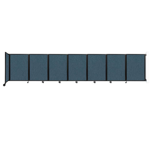 """Wall-Mounted Room Divider 360 Folding Partition 19'6"""" x 4' Caribbean Fabric"""