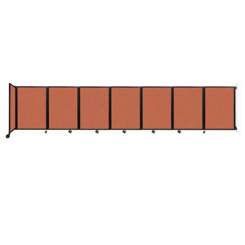 """Wall-Mounted Room Divider 360 Folding Partition 19'6"""" x 4' Papaya Fabric"""