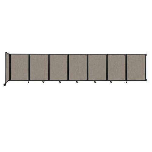"""Wall-Mounted Room Divider 360 Folding Partition 19'6"""" x 4' Warm Pebble Fabric"""