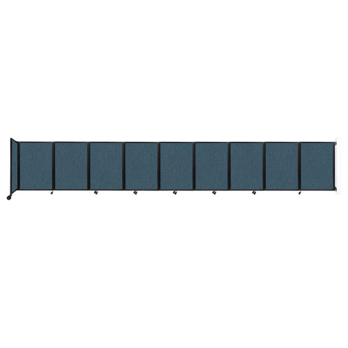Wall-Mounted Room Divider 360 Folding Partition 25' x 4' Caribbean Fabric