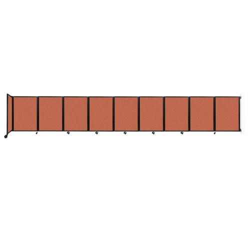 Wall-Mounted Room Divider 360 Folding Partition 25' x 4' Papaya Fabric