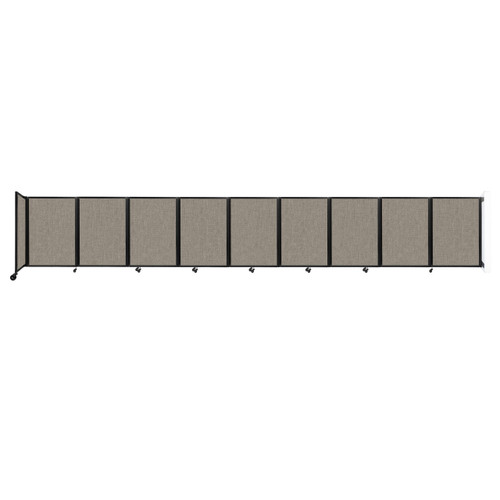 Wall-Mounted Room Divider 360 Folding Partition 25' x 4' Warm Pebble Fabric