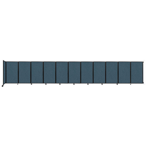 """Wall-Mounted Room Divider 360 Folding Partition 30'6"""" x 5' Caribbean Fabric"""