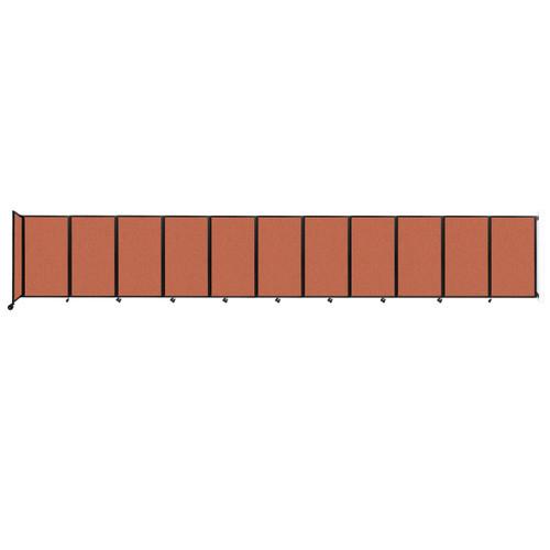"""Wall-Mounted Room Divider 360 Folding Partition 30'6"""" x 5' Papaya Fabric"""