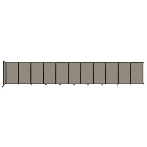 """Wall-Mounted Room Divider 360 Folding Partition 30'6"""" x 5' Warm Pebble Fabric"""