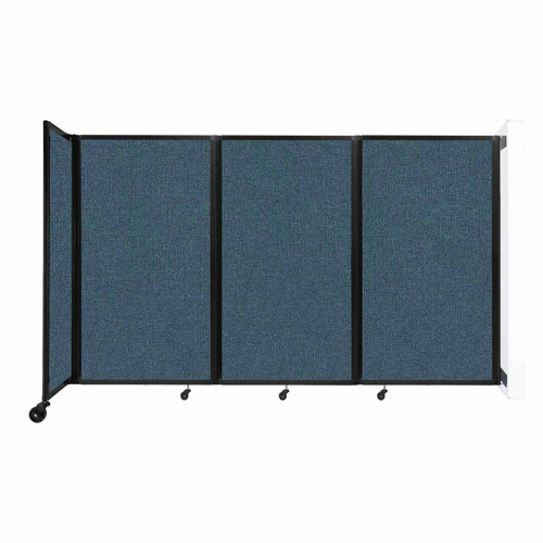 """Wall-Mounted Room Divider 360 Folding Partition 8'6"""" x 5' Caribbean Fabric"""