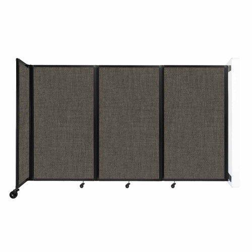 """Wall-Mounted Room Divider 360 Folding Partition 8'6"""" x 5' Mocha Fabric"""
