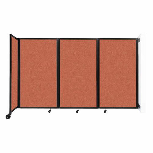 """Wall-Mounted Room Divider 360 Folding Partition 8'6"""" x 5' Papaya Fabric"""