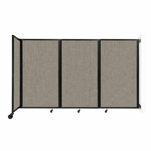 """Wall-Mounted Room Divider 360 Folding Partition 8'6"""" x 5' Warm Pebble Fabric"""