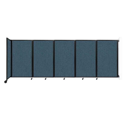 Wall-Mounted Room Divider 360 Folding Partition 14' x 5' Caribbean Fabric