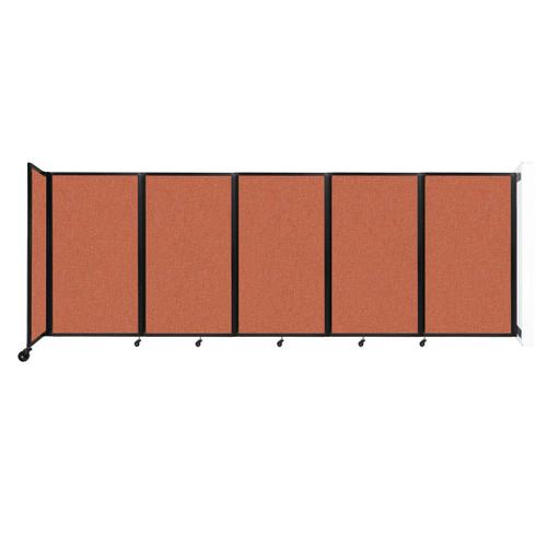 Wall-Mounted Room Divider 360 Folding Partition 14' x 5' Papaya Fabric