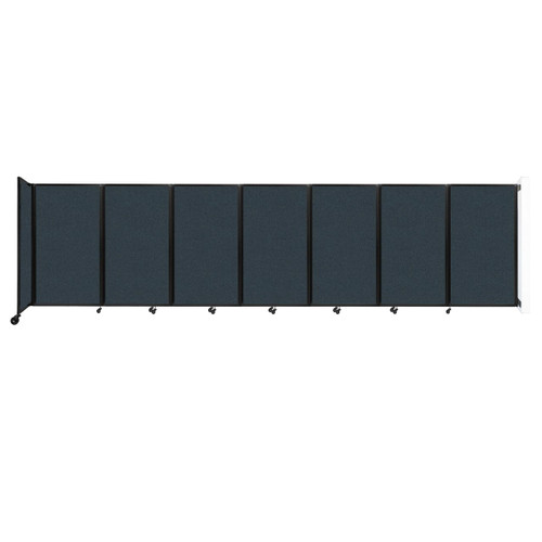"""Wall-Mounted Room Divider 360 Folding Partition 19'6"""" x 5' Blue Spruce Fabric"""