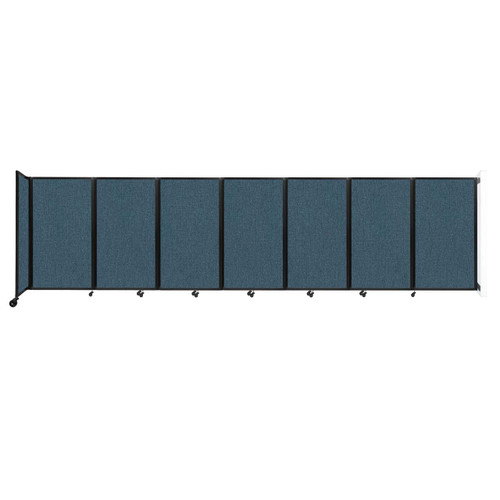 """Wall-Mounted Room Divider 360 Folding Partition 19'6"""" x 5' Caribbean Fabric"""