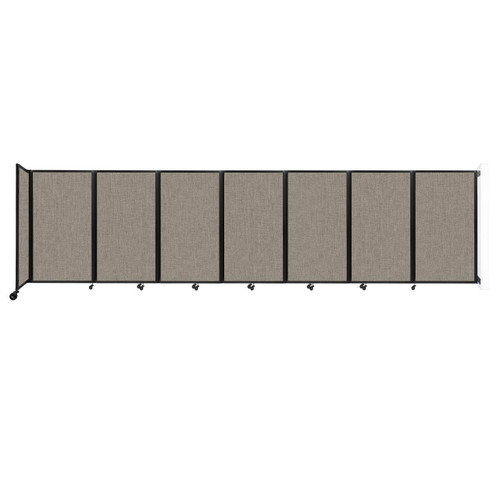 """Wall-Mounted Room Divider 360 Folding Partition 19'6"""" x 5' Warm Pebble Fabric"""