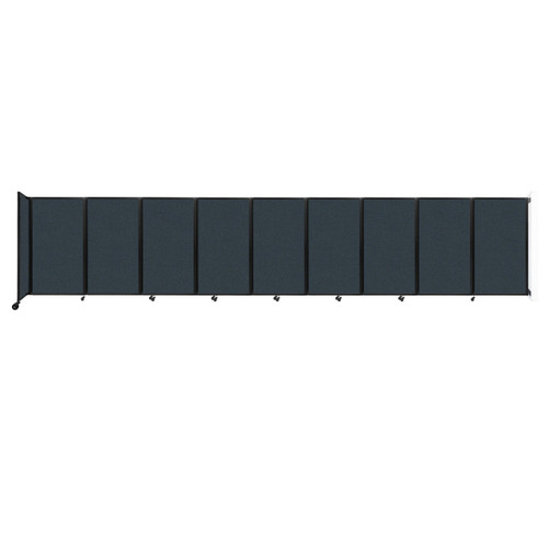 Wall-Mounted Room Divider 360 Folding Partition 25' x 5' Blue Spruce Fabric