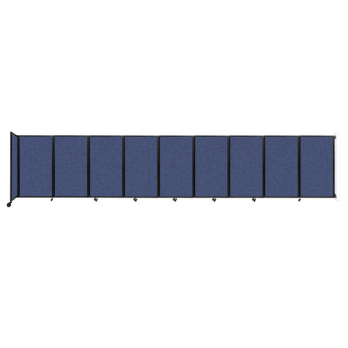 Wall-Mounted Room Divider 360 Folding Partition 25' x 5' Cerulean Fabric