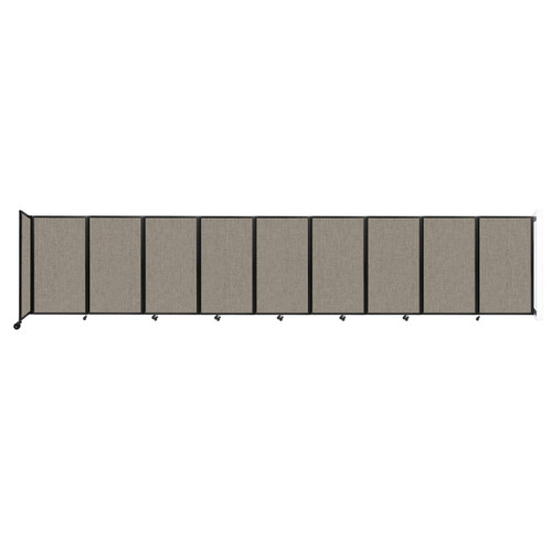 Wall-Mounted Room Divider 360 Folding Partition 25' x 5' Warm Pebble Fabric