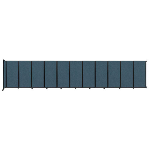 """Wall-Mounted Room Divider 360 Folding Partition 30'6"""" x 6' Caribbean Fabric"""