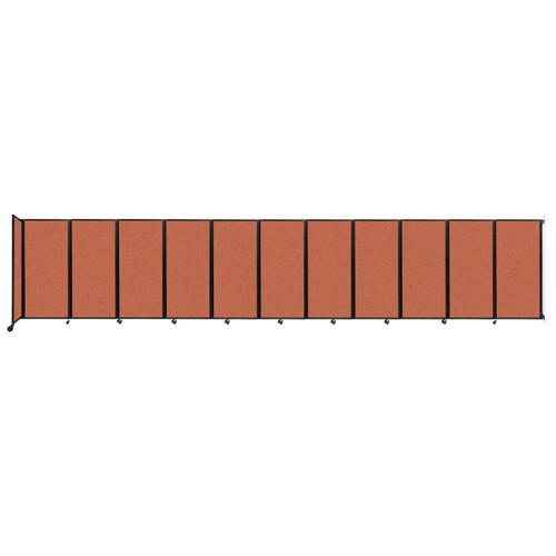 """Wall-Mounted Room Divider 360 Folding Partition 30'6"""" x 6' Papaya Fabric"""