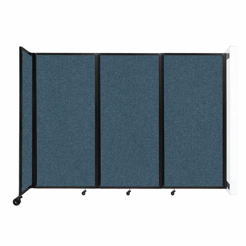 """Wall-Mounted Room Divider 360 Folding Partition 8'6"""" x 6' Caribbean Fabric"""