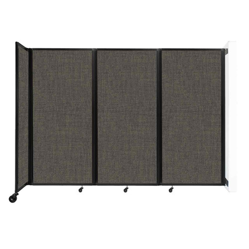 """Wall-Mounted Room Divider 360 Folding Partition 8'6"""" x 6' Mocha Fabric"""