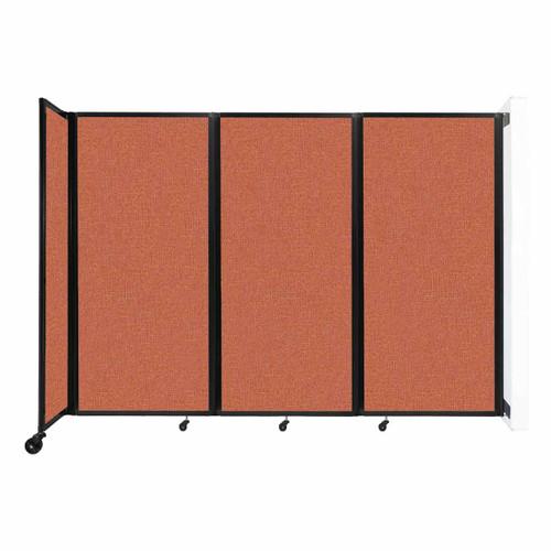 """Wall-Mounted Room Divider 360 Folding Partition 8'6"""" x 6' Papaya Fabric"""