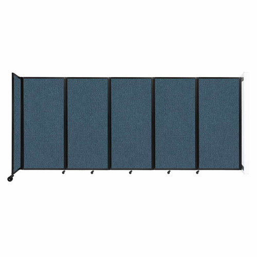 Wall-Mounted Room Divider 360 Folding Partition 14' x 6' Caribbean Fabric