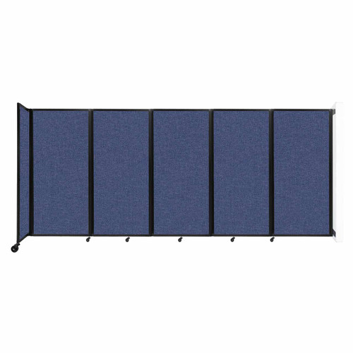 Wall-Mounted Room Divider 360 Folding Partition 14' x 6' Cerulean Fabric